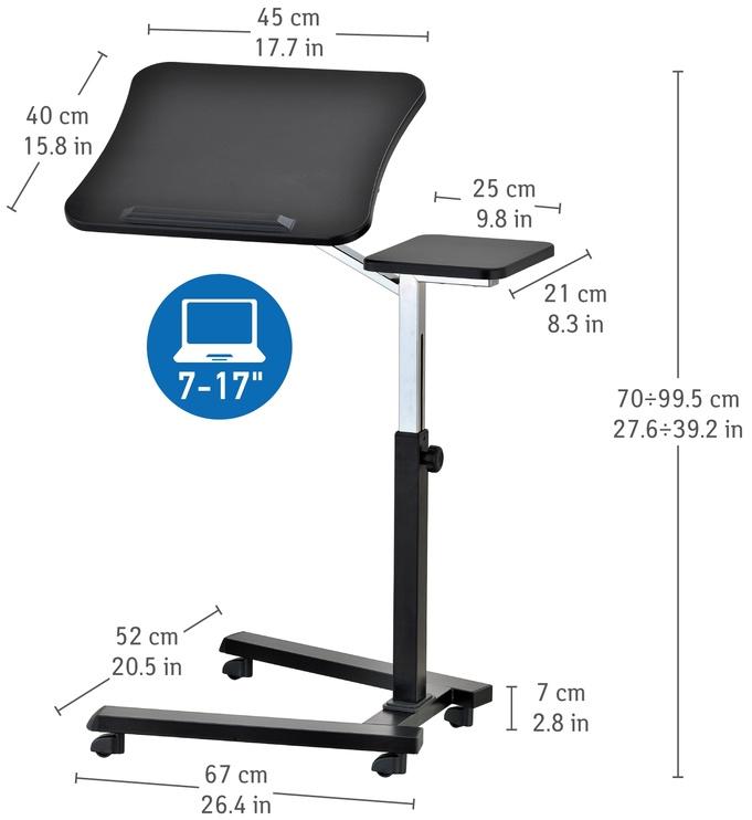 Tatkraft Folding Laptop Stand Table Black