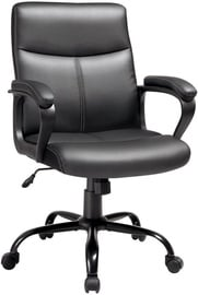 Songmics Office Chair Leather Black 65x63x103cm