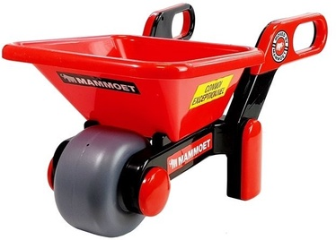 Smilšu kastes rotaļlietu komplekts Mammoet Wheelbarrow, sarkana