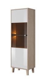 Idzczak Meble Sonata 01 1D Showcase Sonoma Oak/White