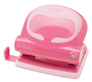 Herlitz Ergonomic Office Punch 2.0mm Indonesian Pink