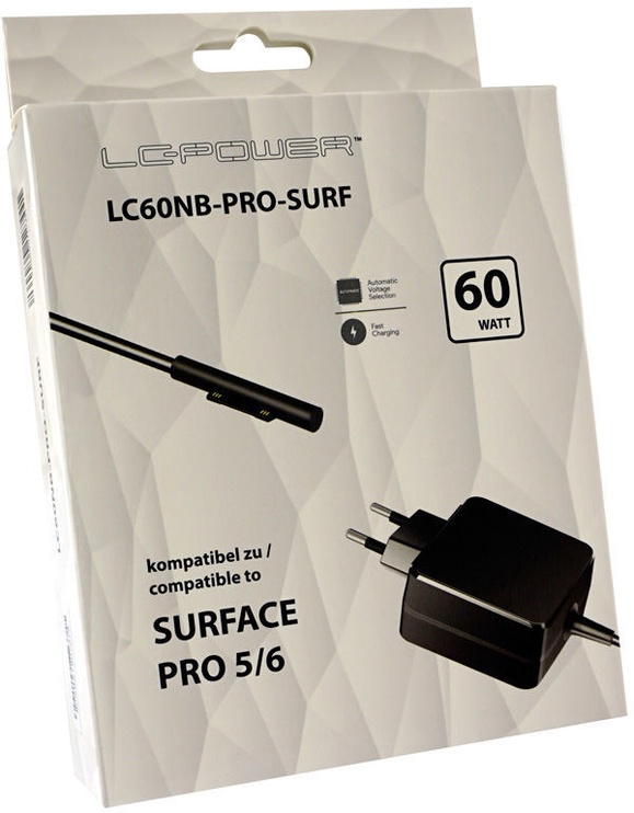 LC-Power Surface Pro Power Adapter 60W