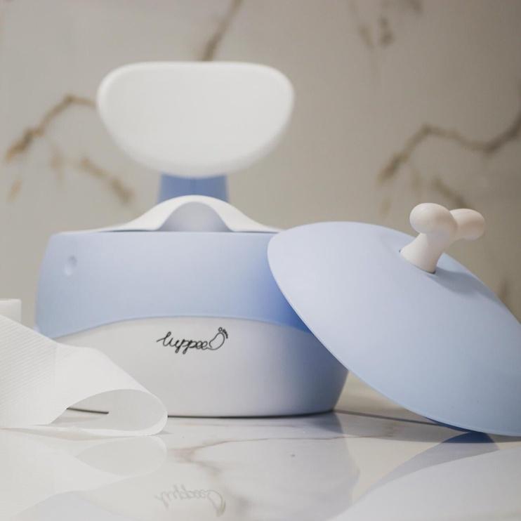 Детский горшок Luppee Whale, синий/белый