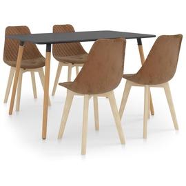 Обеденный комплект VLX 5 Piece Set 3056058, серый/коричневый