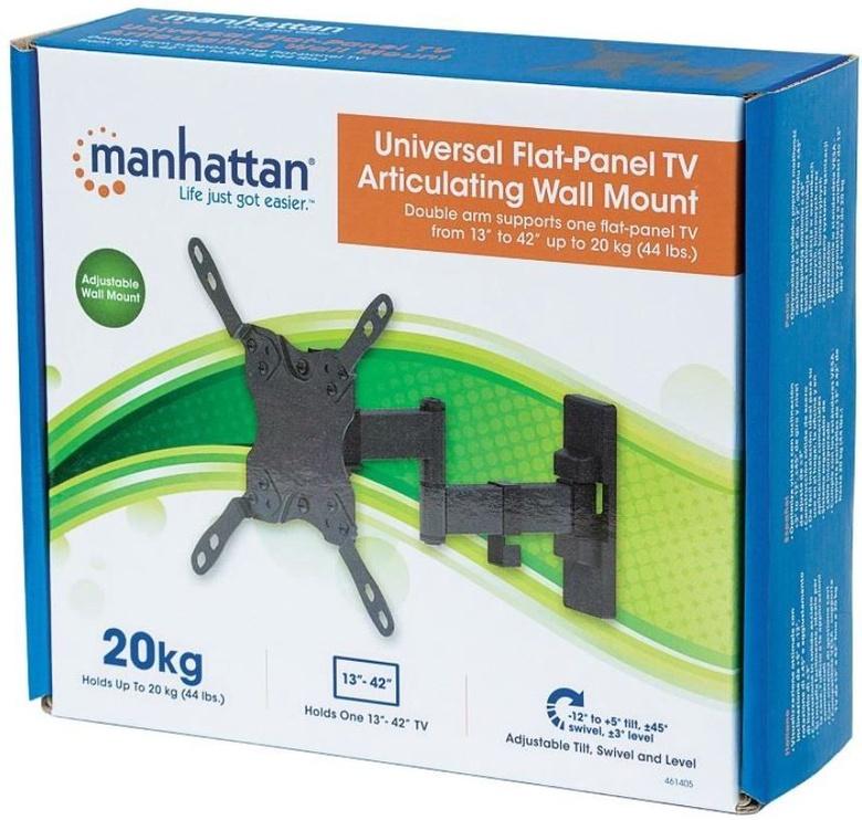 Televizoriaus laikiklis Manhattan Wall Mount for TV 13-42'' Black
