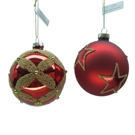 Eglutės žaisliukas Christmas Touch EBV945030/EBL943154 Gold/Red, 4 vnt.