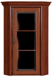 Black Red White Glass Door Cabinet Kent 58x114x58cm Chestnut