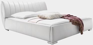 Кровать Meise Möbel Bern White, 200x180 см, с решеткой