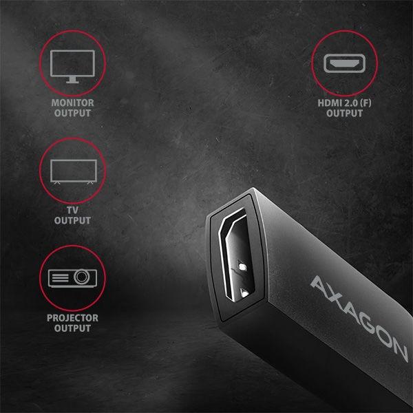 Axagon RVC-HI2 USB-C to HDMI Adapter