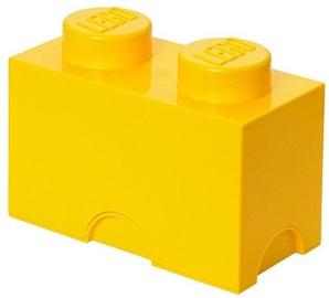 LEGO Storage Brick 2 Knobs Yellow