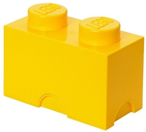 LEGO Storage Brick 2 Knobs Yellow