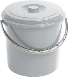 Curver Bucket With Grey Lid 10L Grey