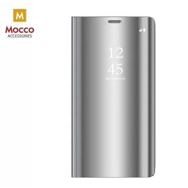 Чехол Mocco Clear View For Samsung Galaxy A12, серебристый