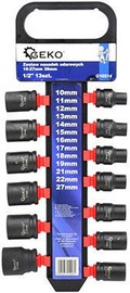 "Geko G10514 Impact Sockets Set 1/2"" 10-27mm 13pcs"