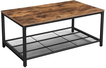 Kafijas galdiņš Songmics Antique, brūna/melna, 1060x600x450 mm