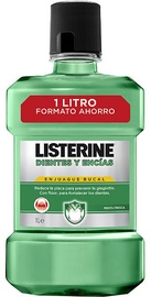 Burnos skalavimo skystis Listerine Fresh Mint Teeth And Gum Defence 1000ml