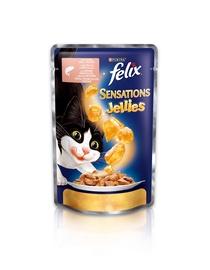 Konservuotas ėdalas suaugusioms katėms Felix, su lašiša, 100 gr