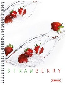 Herlitz Spiral Pad A4 Fresh Fruit Strawberry 11291671