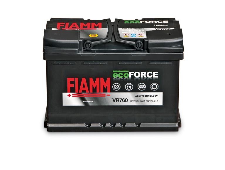 Аккумулятор Fiamm Ecoforce, 12 В, 70 Ач, 760 а