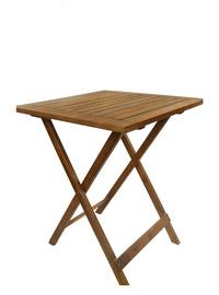 Medinis lauko stalas Fold PNT001, 60x60x72 cm