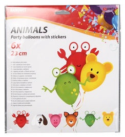 Banquet Party Balloons With Stickers 6pcs