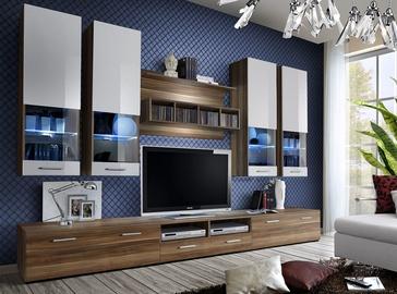 Dzīvojamās istabas mēbeļu komplekts ASM Dorade Plum/White
