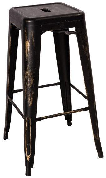 Signal Meble Hoker Long Bar Stool Black Washed