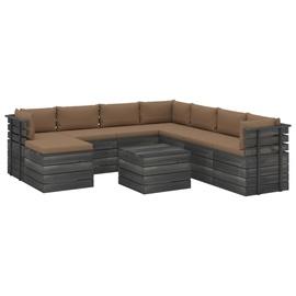 Комплект уличной мебели VLX Garden Pallet Lounge Set 3061847, серый/коричневый, 1-4 места