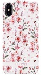 SoSeven Fashion Tokyo Cherry Blossom Flowers Back Case For Apple iPhone X/XS White/Pink