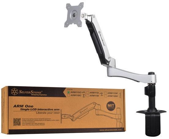SilverStone ARM11SC Desk Bracket LCD Silver