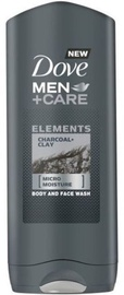 Dušo želė Dove Men Char & Clay, 400 ml