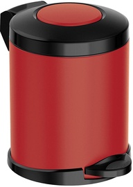 Meliconi Opera Waste Bin Matt Red 5l