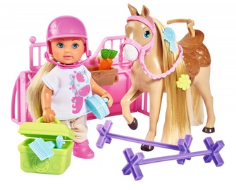 Simba Evi Love Holiday Doll With Horse 105733274038