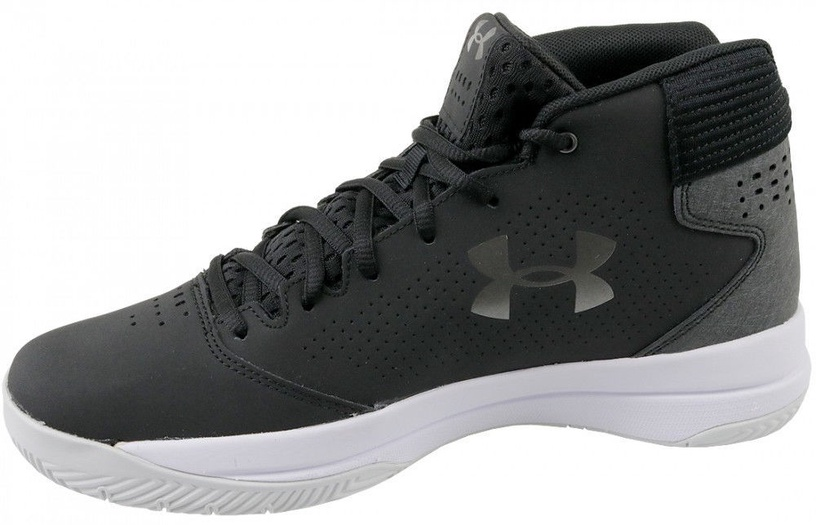 Under Armour Basketball Shoes Jet Mid 3020224-001 Black 45.5