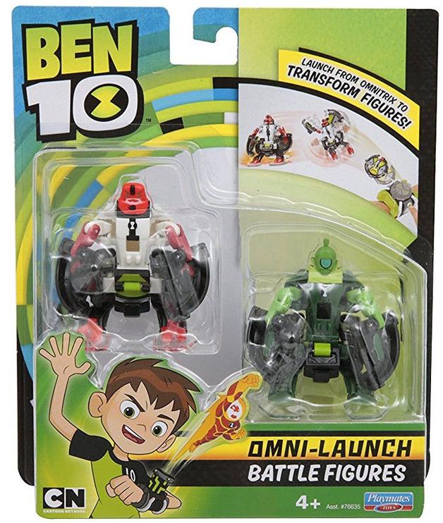 Фигурка-игрушка Playmates Toys Ben 10 Omni-Launch Battle Refill Four Arms & Wildvine 76637
