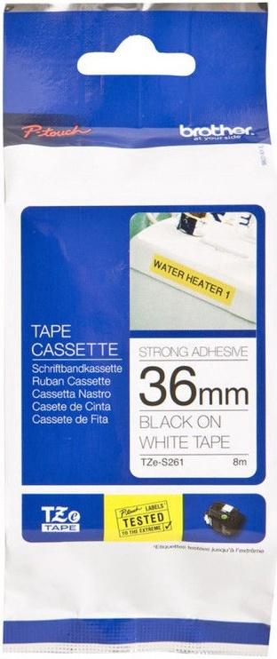 Этикет-лента для принтеров Brother TZe-S261, 800 см