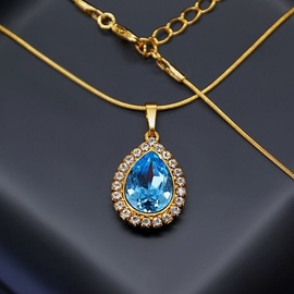 Diamond Sky Pendant Celestial Drop With Swarovski Crystals