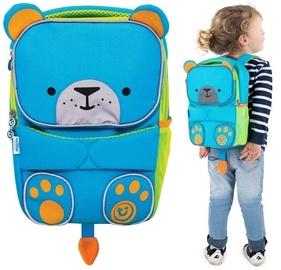 Школьный рюкзак Trunki Bear, синий/зеленый