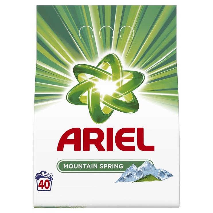 Skalbimo milteliai Ariel Mountain Spring, 40 skalb./ 3kg