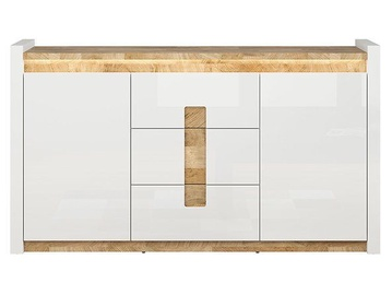 Black Red White Alameda Drawer 41x172x96.5cm White Oak