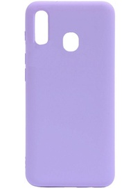 Evelatus Soft Touch Back Case With Strap For Samsung Galaxy A20e Purple