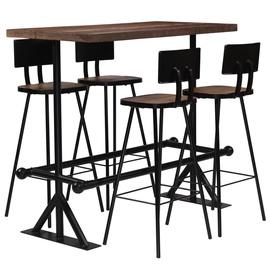 Обеденный комплект VLX 5 Piece Bar Set 245395, черный/коричневый