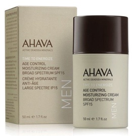 Sejas krēms Ahava Men Time To Energize Age Control Moisturizing Cream SPF15, 50 ml