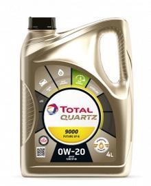 Mootoriõli Total Quartz 9000 Future GF6 0W - 20, sünteetiline, sõiduautole, 5 l
