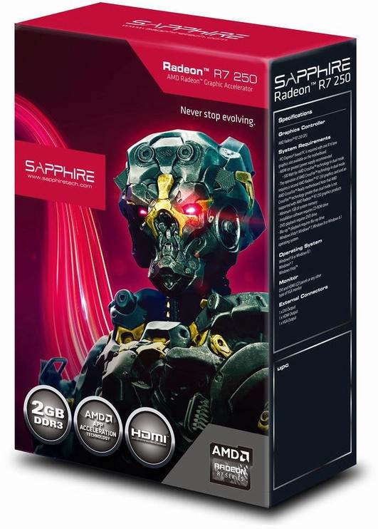 Sapphire Radeon R7 250 2GB GDDR3 PCIE BOX 11215-24-20G
