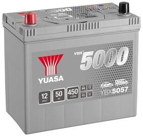 Аккумулятор Yuasa YBX5057, 12 В, 50 Ач, 450 а