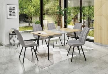 Pusdienu galds Halmar Albon Sonoma/Grey Oak, 1200 - 1600x800x760 mm