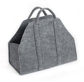 Medžiaginis malkų krepšys Nordflam, pilkas