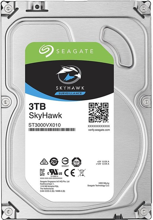 Seagate SkyHawk 3TB 5900RPM SATAIII 64MB ST3000VX010