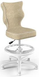 Krēsls Entelo Petit Black HC+F Size 4 Children Chair VS26 White/Beige